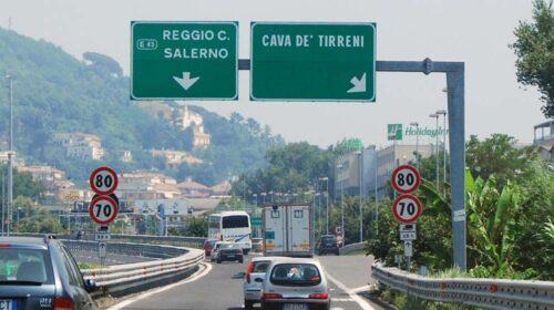 A3 NAPOLI-POMPEI-SALERNO: CHIUSURE NOTTURNE DEL TRATTO SALERNO-CAVA DE' TIRRENI