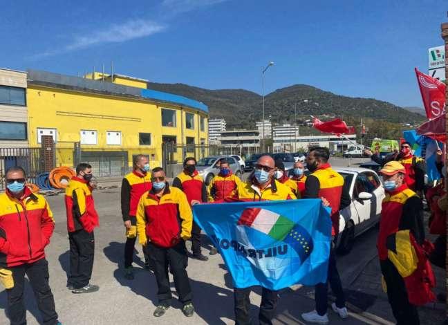 Lavoratori della logistica di Salerno in sciopero