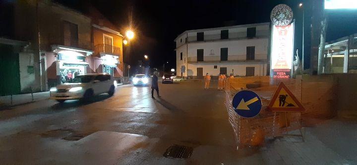 Proseguono le attività per il posizionamento del semaforo a Sant'Egidiodel Monte Albino