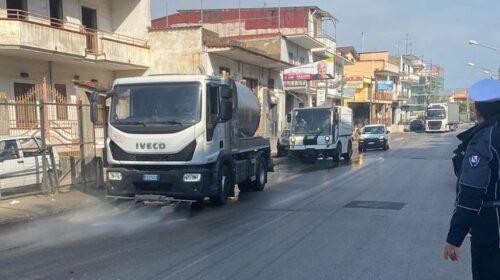 San Marzano, iniziata l'attività di pulizia e sanificazione delle strade invase dal fango il 9 marzo
