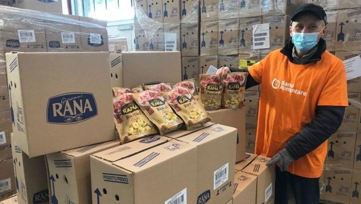Quintali di pasta donati dal pastificio Rana al banco alimentare