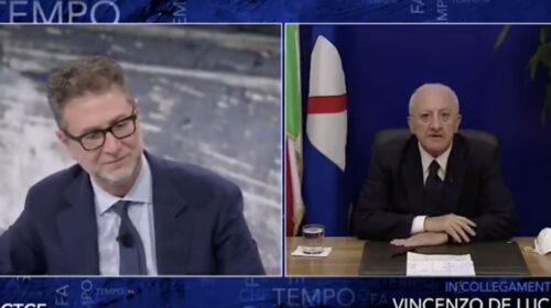 """De Luca torna ospite a """"Che Tempo Fa"""" di Fabio Fazio"""