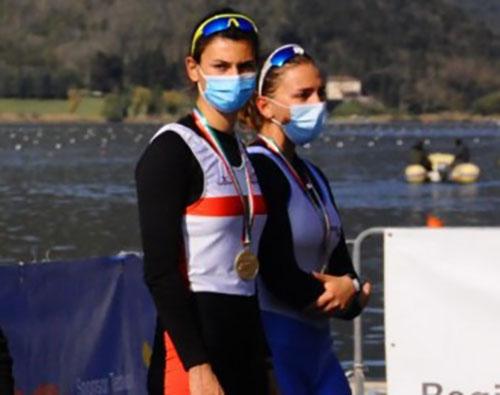 """Canottieri Irno Salerno sul podio al Memorial internazionale """"d'Aloia"""", Gioconda Iannicelli terza nel doppio junior con l'equipaggio misto societario"""