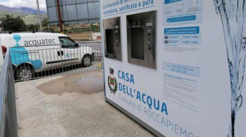 ROCCAPIEMONTE, EFFETTUATI INTERVENTI MANUTENZIONE RIQUALIFICAZIONE ALLA CASA DELL'ACQUA