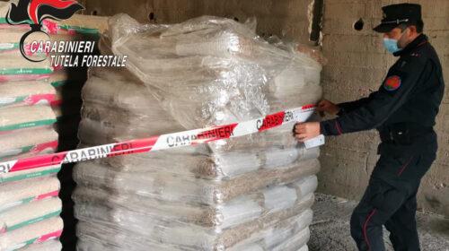 Sequestrato impianto e pellet contraffatto a Buccino