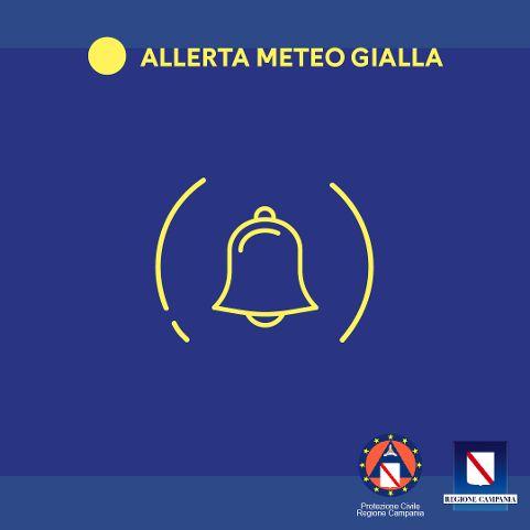 Protezione civile Campania: Allerta meteo Gialla dalle 12 di domani alle 12 di lunedì