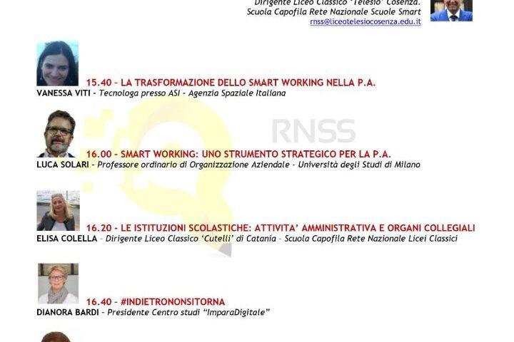L'ISS PISACANE DI SAPRI AL PRIMO MEETING NAZIONALE ORGANIZZATO DALLA RETE NAZIONALE SCUOLE SULLO SMART WORKING