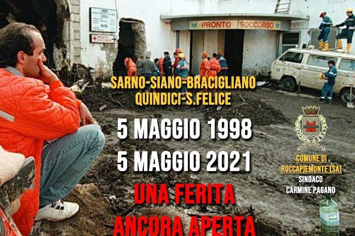 """Frana 5 Maggio, sindaco di Roccapiemonte: """"Non dimenticheremo mai quelle drammatiche ore, le tante vittime, tra cui il nostro amato concittadino-eroe  Aldo Amatruda"""""""