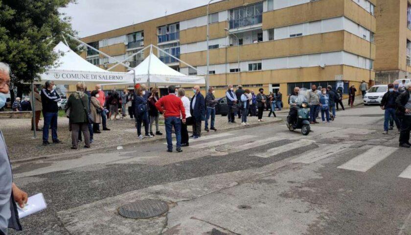 Salerno, grande affluenza questa mattina per il vaccino day a Matierno