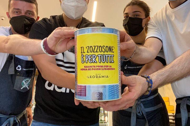 Gara di solidarietà per la mensa dei poveri di Salerno, Maurizio Bollo dona la colazione agli ospiti del refettorio
