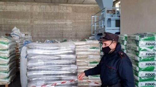 Vendita senza autorizzazione, a Buccino sequestrate 8,5 tonnellate di mangimi