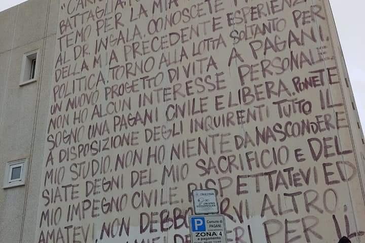 A Pagani un murales di Jorit per Marcello Torre