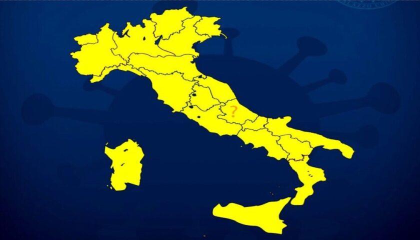 DA LUNEDI' ITALIA TUTTA ZONA GIALLA