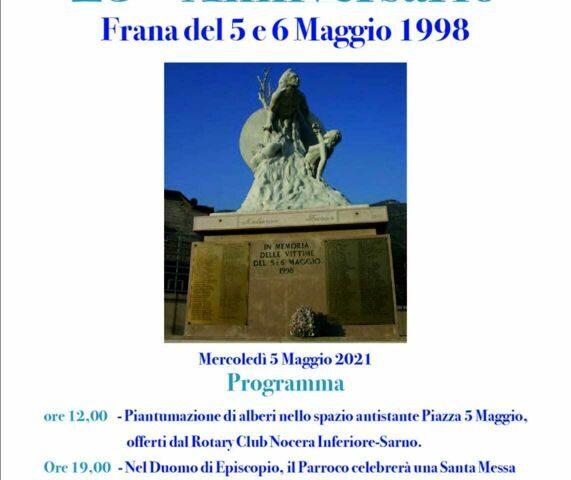 Sarno domani ricorda le vittime della frana del 5 maggio 1998