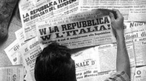 Il 2 giugno 1946 si costruirono le basi della Repubblica con l'Italia chiamata a votare contro la Monarchia