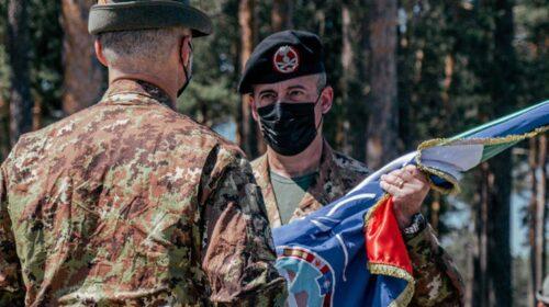 Il tenente colonnello Giovanni Graziano comandante in Lettonia del contingente italiano