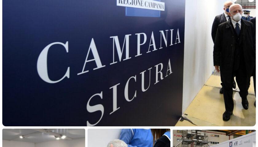 Vaccini, Campania prima in Italia per somministrazioni di dosi, De Luca: cittadini immunizzati entro il 20 agosto