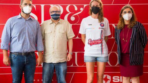 """Sara Menghi """"al centro"""" del progetto P2P: primo acquisto bianco rosso blu"""