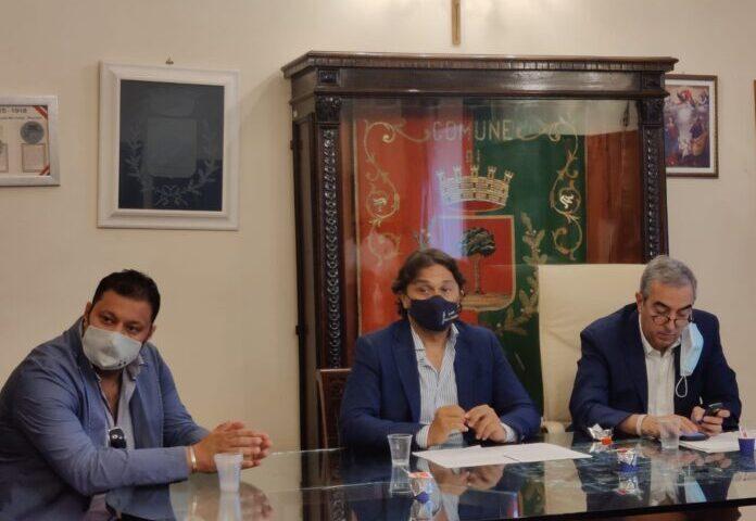 Il senatore Maurizio Gasparri in visita a Pagani