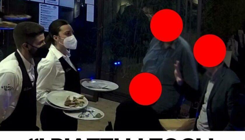 """Cliente poco cortese al """"Re Denari"""" di Torrione a Salerno: """"I piatti li togli quando dico io"""""""
