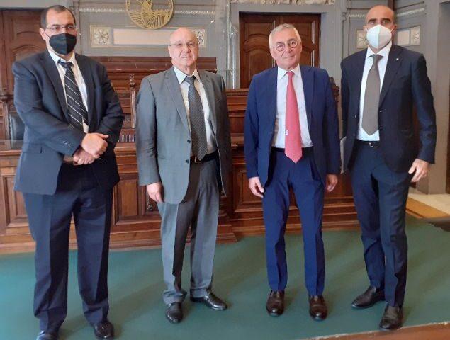 Camera di Commmercio Salerno, Andrea Prete incontra Ahmed Boutache Ambasciatore d'Algeria in Italia