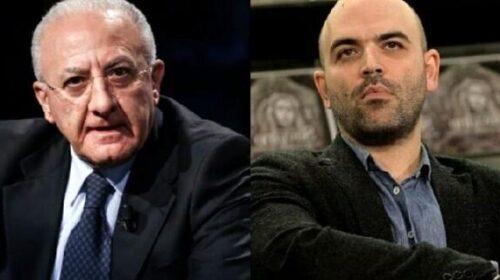 """Saviano: """"De Luca controlla gli accessi ai festival"""""""