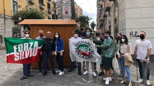 Puliamo l'Italia, i giovani di Forza Italia ieri in piazza a Salerno