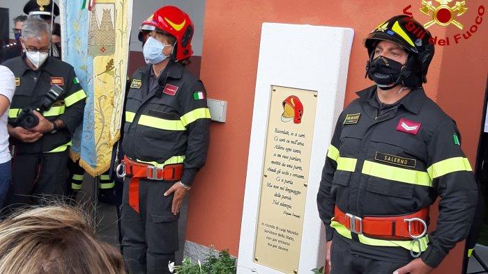 Sala Consilina, sede dei vigili del fuoco alla memoria di Luigi Morello ucciso dal covid