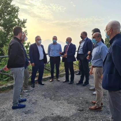 Partono i lavori dal Valico di Chiunzi per raggiungere la Costiera Amalfitana