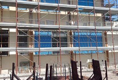 Il rifacimento delle facciate presso la sede Ipseoa di Gromola
