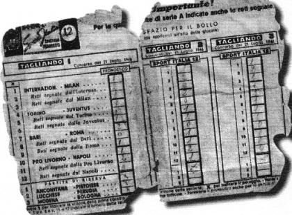 Il 21 luglio 1946 il primo fortunato con la schedina Sisal/Coni