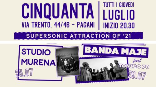 """Live da """"Cinquanta – Spirito Italiano"""" con Studio Murena e Banda Maje + Tonico '70"""