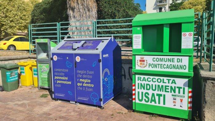 A Pontecagnano nuovi contenitori per rifiuti