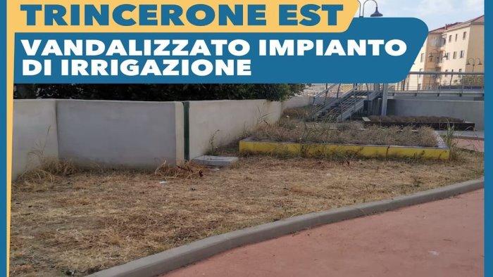 Salerno, vandalizzati gli impianti di irrigazione sul Trincerone est