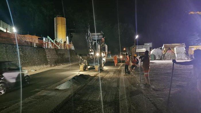 Viadotto Gatto a Salerno, lavori notturni