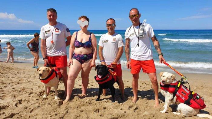 Trascinata a largo, 50enne salvata dal cane bagnino a Palinuro