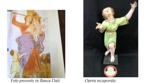 Eboli, ritrovata statua del Bambinello con il saio: fu rubata 29 anni fa