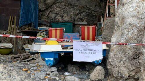 Maxi sequestro di una discarica nella grotta di Santa Croce ad Amalfi