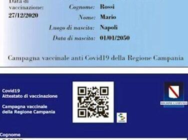 A Roccapiemonte arriva la tessera Vaccinale della Regione