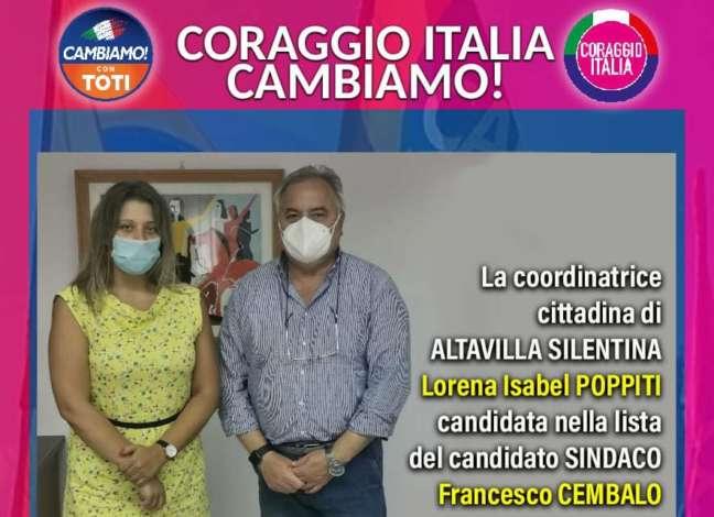 Coraggio Italia ad Altavilla Silentina appoggia il candidato Cembalo