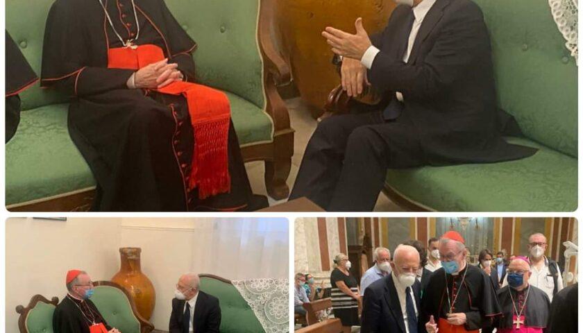 De Luca a Pagani incontra il segretario di Stato della Santa Sede cardinale Parolin