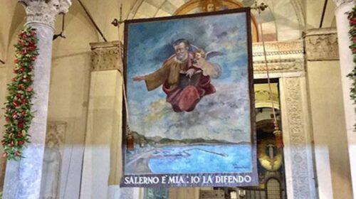San Matteo, alle 19 Alzata del Panno in Cattedrale a Salerno
