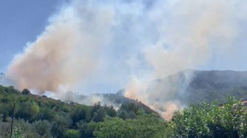 Incendio ad Antessano di Baronissi, in azione mezzi regionali