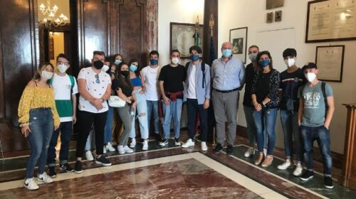 Il Presidente Strianese a Palazzo Sant'Agostino riceve il Forum dei Giovani di Polla