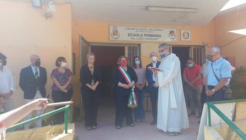"""Posa prima pietra per scuola primaria """"Fasolino"""" a Castel San Giorgio"""