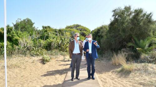L'ASSESSORE REGIONALE AL TURISMO FELICE CASUCCI IN VISITA A CASTELLABATE