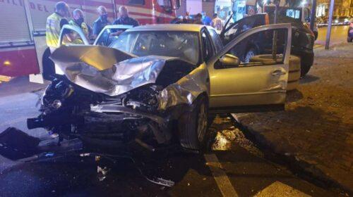 Scontro tra auto in via Jemma a Battipaglia, 9 feriti