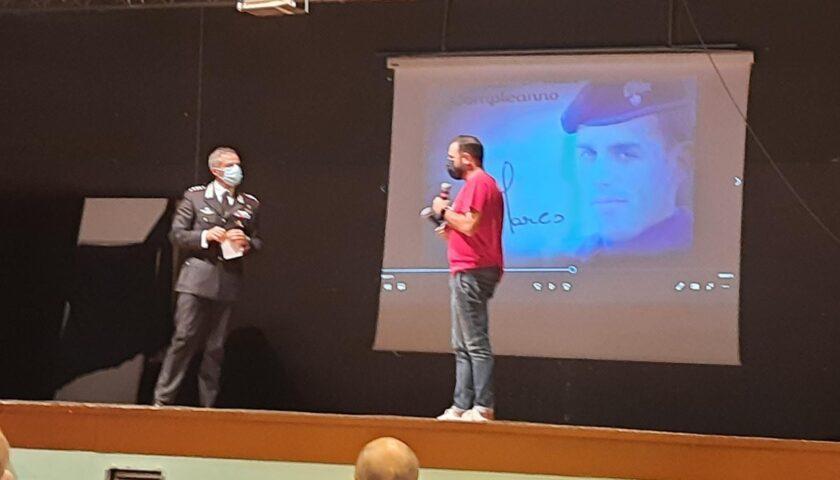 Pagani  ha ricordato il tenente Marco Pittoni