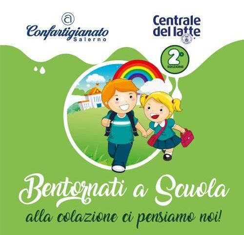 """Salerno, Centrale del Latte e Confartigianato insieme per la seconda edizione di """"Bentornati a Scuola"""""""
