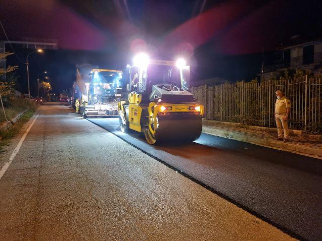 A San Pietro al Tanagro i lavori di pavimentazione sulla SR 426